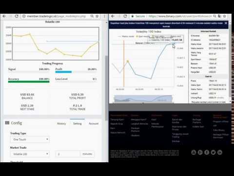 trading touch binary.com -- dengan auto trading tool tradelogic.id --