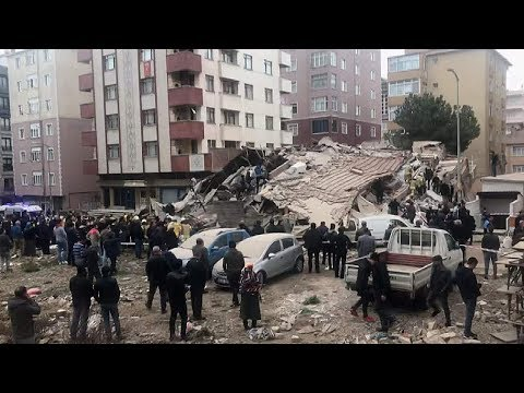 Turkey: Multi-story building collapses in Istanbul
