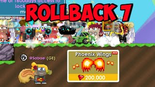 ROLLBACK AGAIN!! TONS PHOENIX WINGS!! ( 100 BGL DUPED ) | GrowTopia