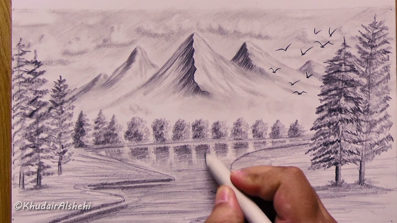 Drawing Of Imagination Drawings Landscape Imagine
