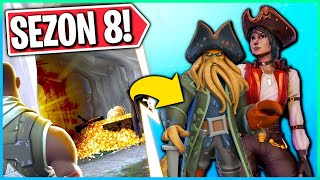 HIDDEN TREASURES OF PIRATES ON THE MAP! SEASON 8 CARNET SKINS! (Fortnite Battle Royale)