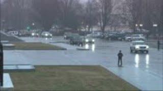 Rep. Dingell's casket passes the U.S. Capitol
