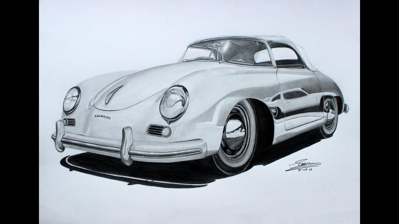 Porsche 356 Speedster Pencil Drawing Youtube