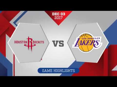 Los Angeles Lakers vs. Houston Rockets - December 3, 2017