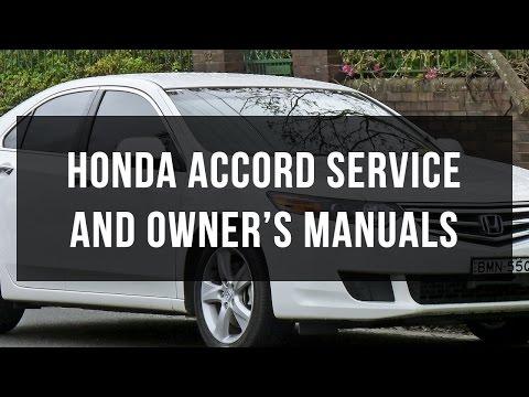 Honda Accord service and owner's manual free