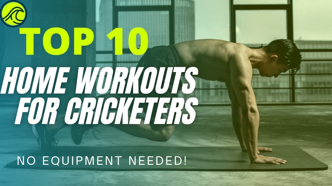 TOP 10 Exercises For Cricketer ?️   Home Workout For Cricketer   Cricket Fitness Exercise   Fitness