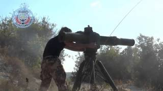 Syrian Rebels Destroy Russian Helicopter With US-Supplied Anti-Tank Missile 720p HD