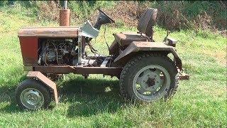 Обзор мини-трактора - главное захотеть и все получится.