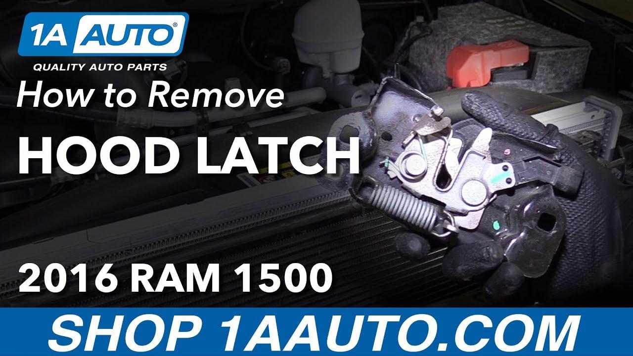 How to Remove Hood Latch 09-18 Ram 1500
