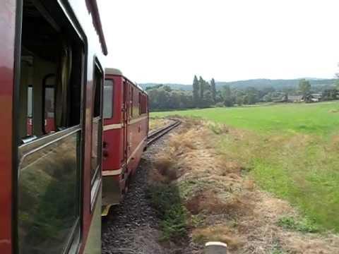 Czech Republic: Trať 298 Osoblaha - Třemešná ve Slezsku, Narrow Gauge Class 704 departs Liptan