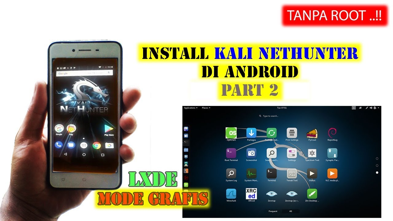 Kali nethunter mode grafis lxde di android