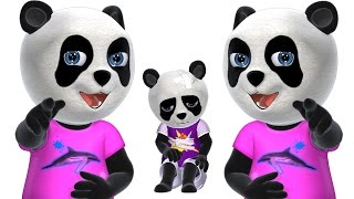 Five Little Pandas Jumping On the Bed   Kids' Songs   3D English Nursery Rhymes for Children
