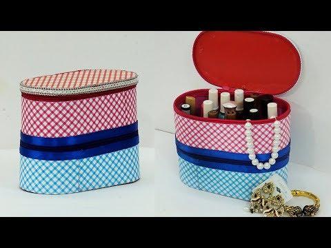 DIY Multipurpose Organizer Using Cardboard | DIY Jewelry Holder Storage Box Idea | StylEnrich