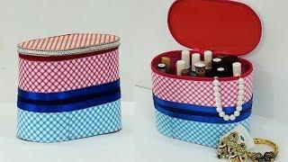 DIY Multipurpose Organizer Using Cardboard   DIY Jewelry Holder Storage Box Idea   StylEnrich