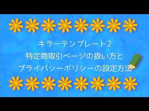 【キラーテンプレート2】プライバシーポリシーの設定方法【セールスレタータイプ】