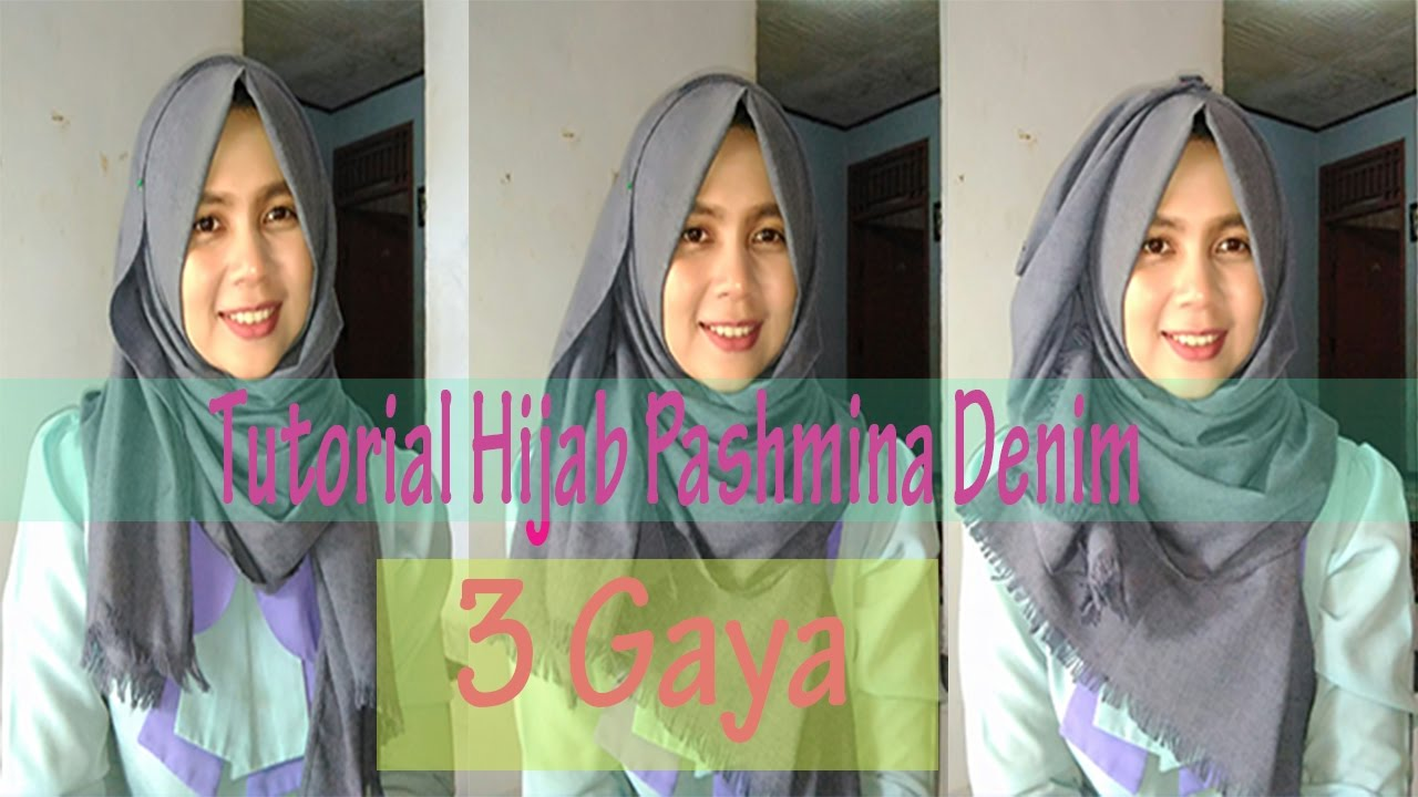 Tutorial Hijab Pashmina Denim 3 Gaya 1 Dessi Tika Indriningtyas