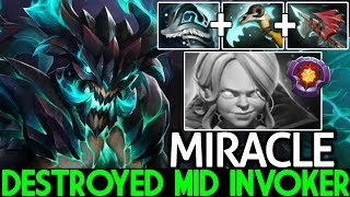 MIRACLE [Outworld Devourer] Pro Counter Plays Destroyed Mid Invoker 7.22 Dota 2