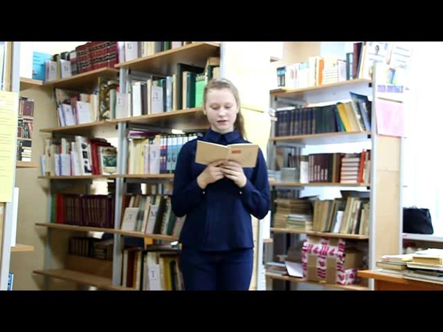 Изображение предпросмотра прочтения – АлёнаДеревягина читает отрывок изпроизведения «Иван» В.О.Богомолова