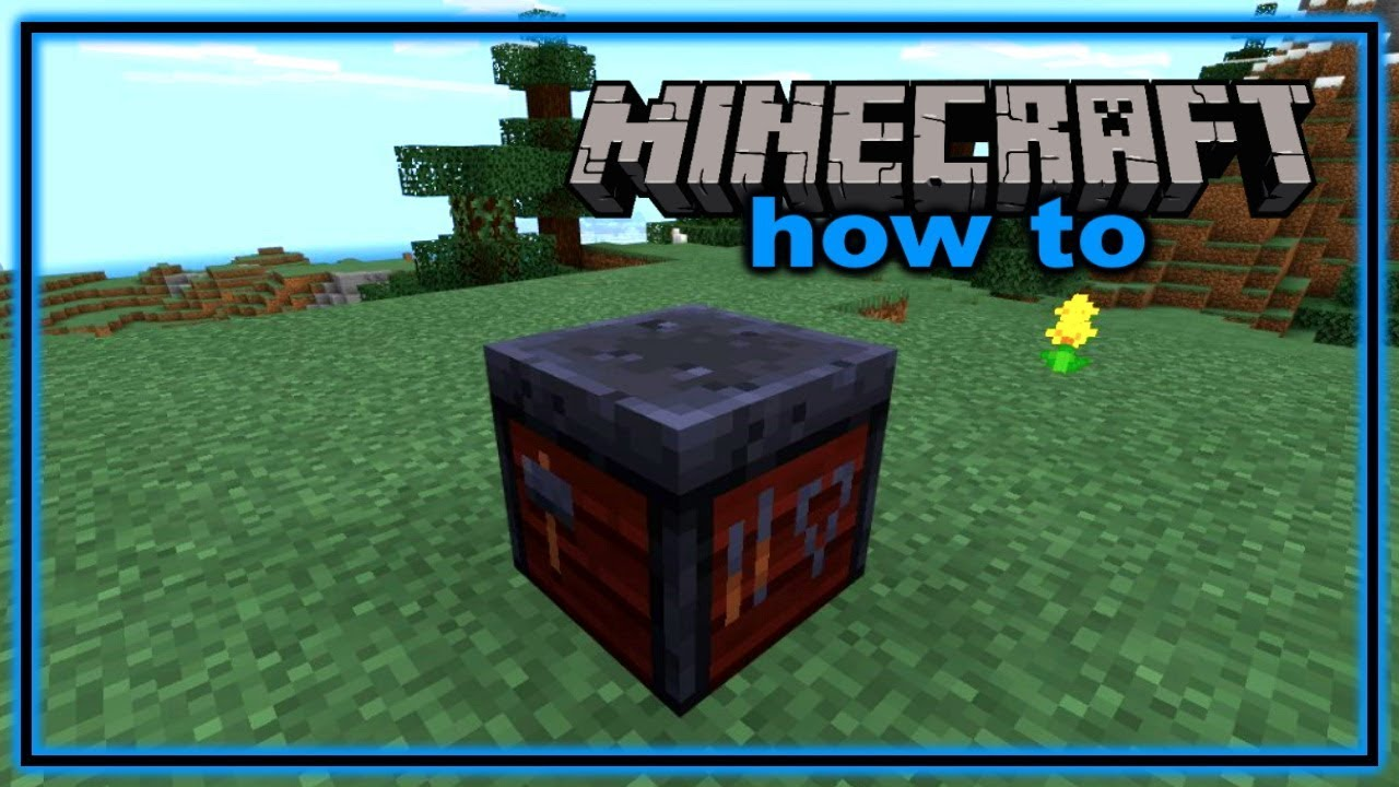 How to Craft and Use a Smithing Table in Minecraft - YouTube
