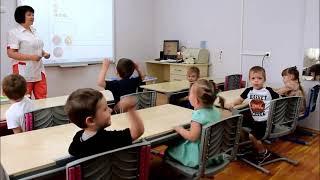 Ярослава на открытом уроке Развитие математических представлений в садике Счастливое детство