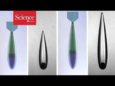 Watch these hot balls cut through water like a knife through butter