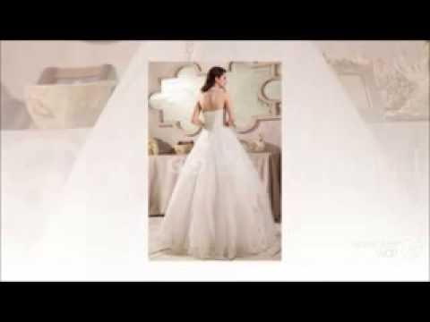 Ivory Basque Lace-up Princess Wedding Dress at G&G