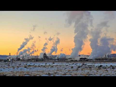 Smoke Stacks Skyline in Wyoming