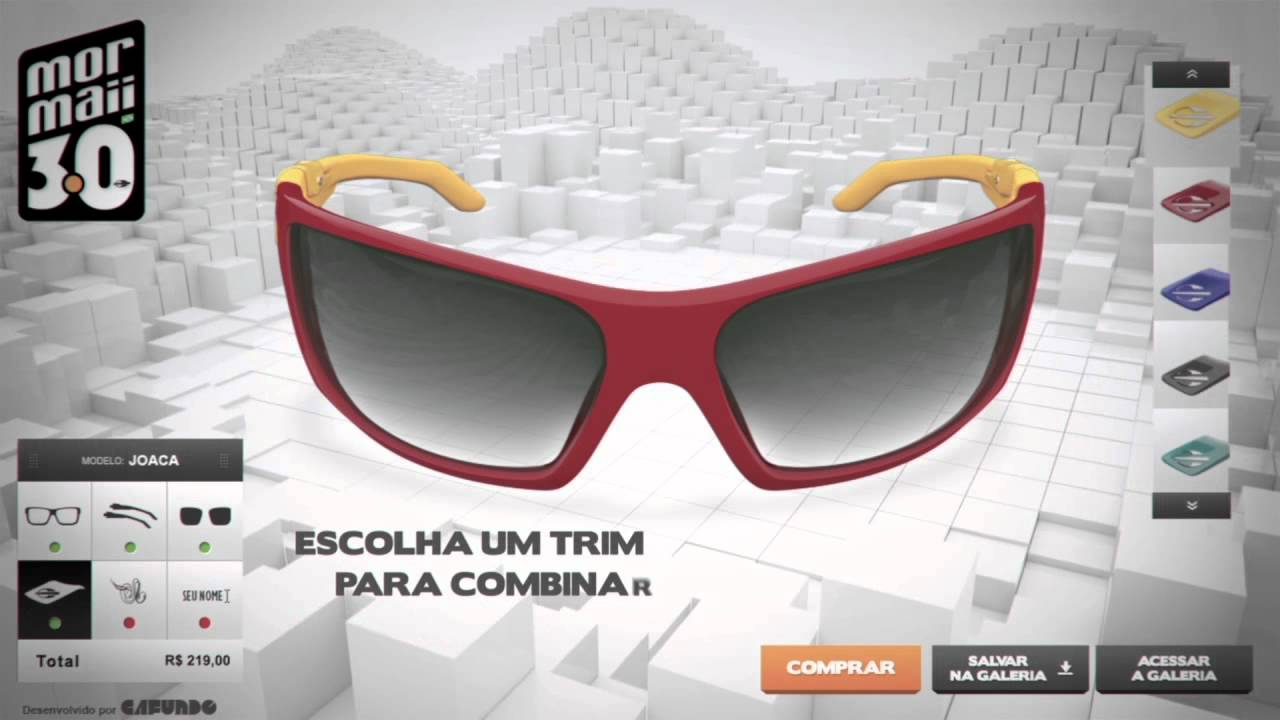 923730c3ae6e7 Mormaii 3.0   Customize seu óculos - YouTube