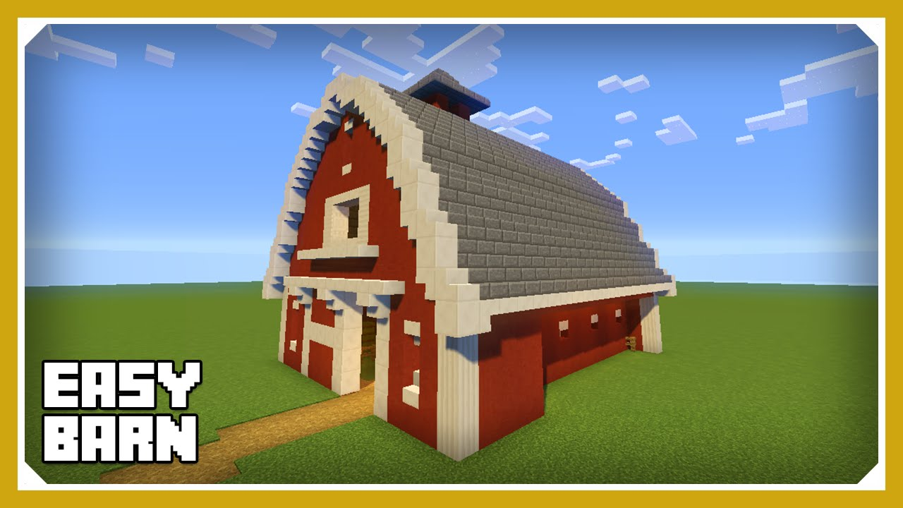 Minecraft: How To Build A Barn House Tutorial (Easy Survival ...