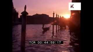 1980s Venice Sunset, Canal, Boats 35mm