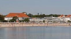 Travemünde, Germany: Strand (beach), Columbia Hotel Casino, Strandpromenade - 4K Video Photo