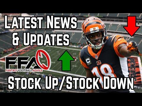 Stock Up / Stock Down – Important Training Camp News – 2019 Fantasy Football