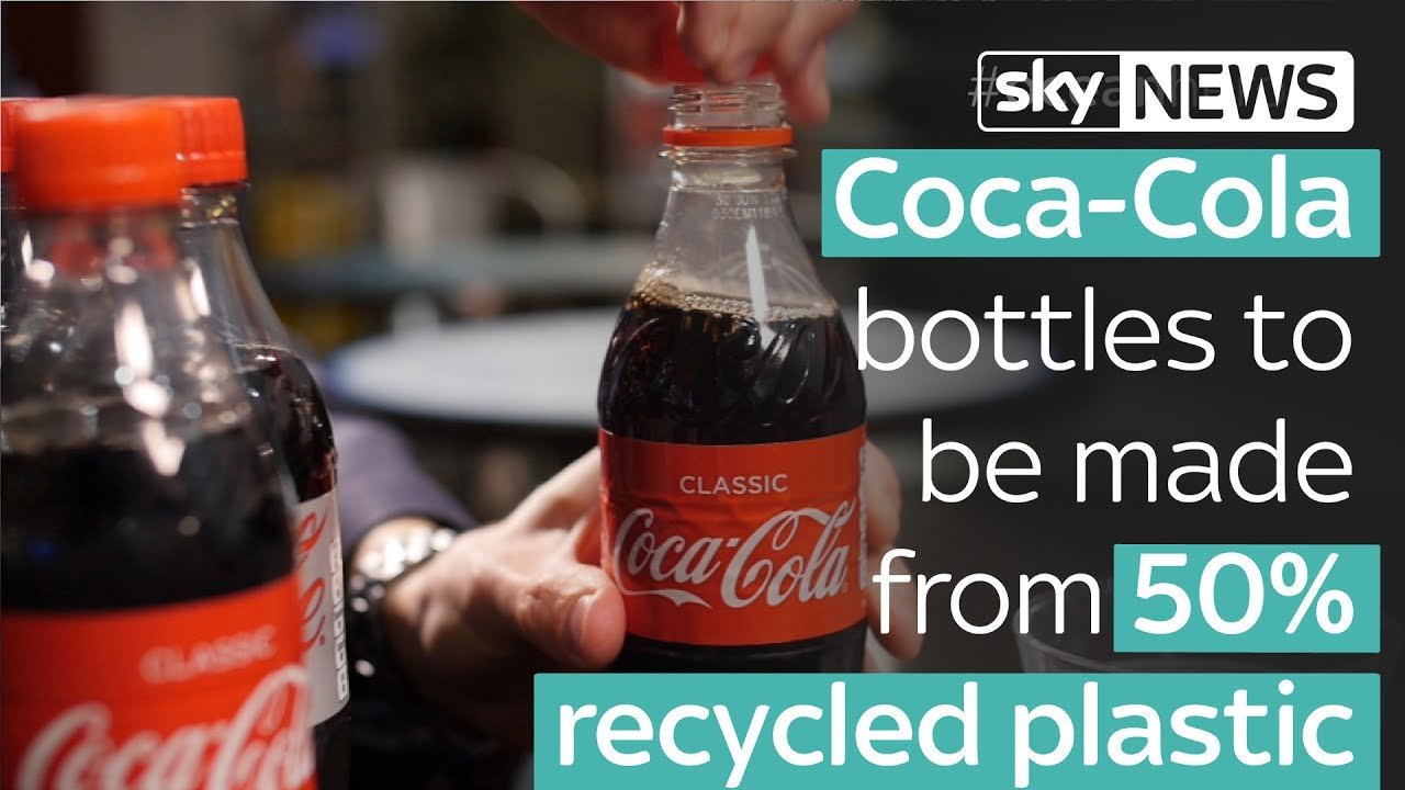 Coca Cola bottles to be made from 50