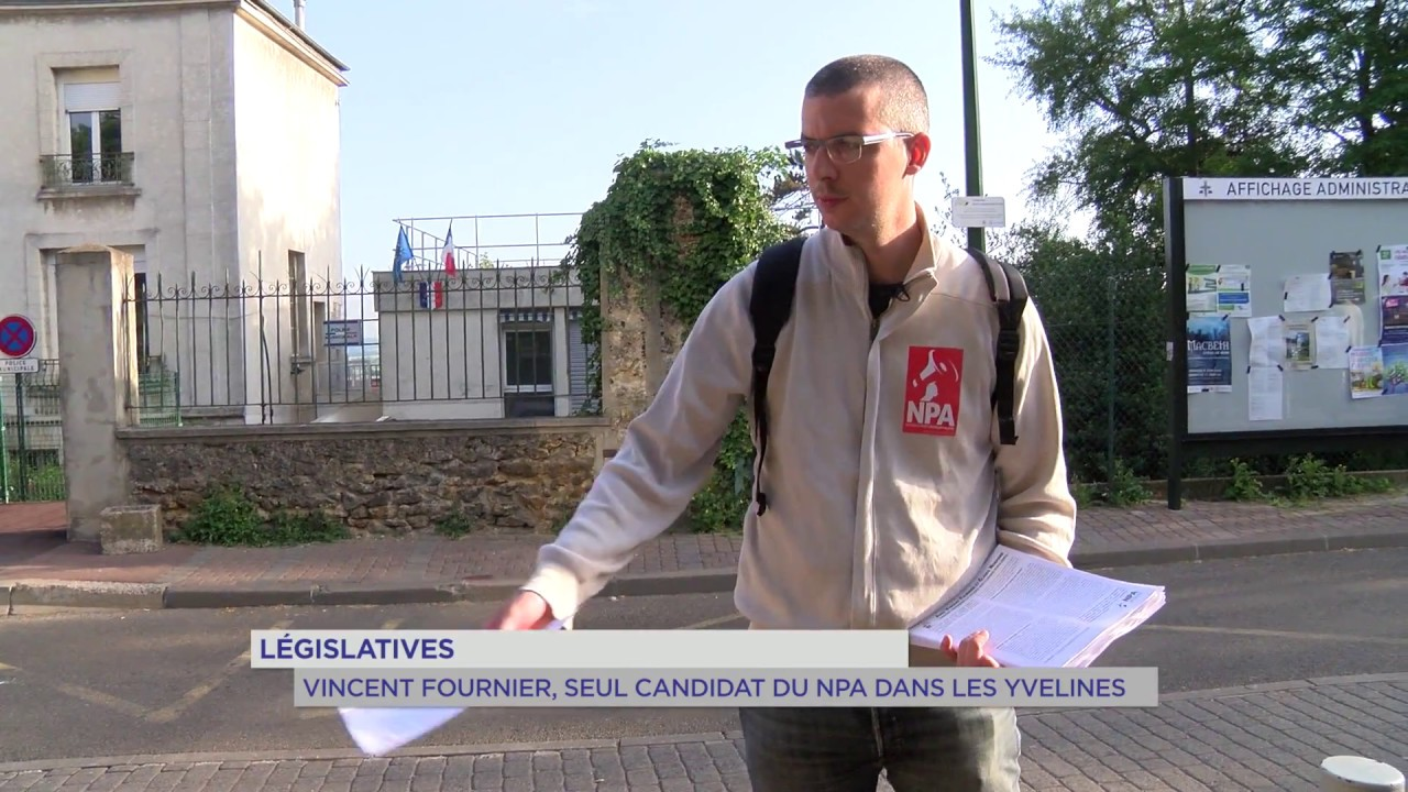 Législatives : Vincent Fournier, seul candidat du NPA dans les Yvelines
