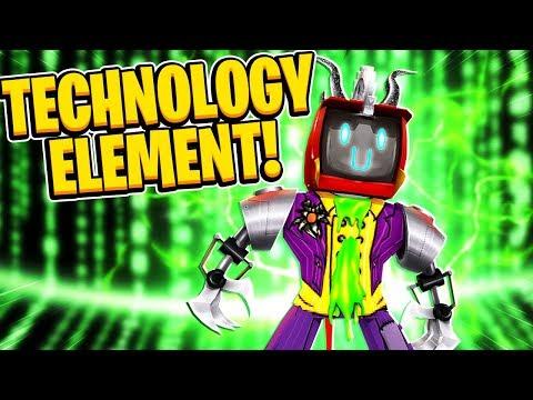 Technology Element Gameplay + Showcase In Roblox Elemental Battlegrounds