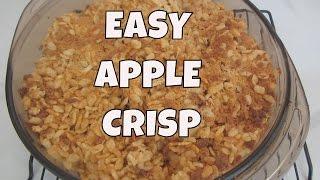 Easy Apple Crisp ~ Gluten Free