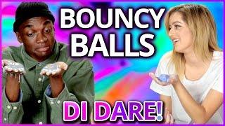 DIY Glow in the Dark Bouncy Ball?!   Di-Dare w/ Rickey Thompson & Lycia Faith