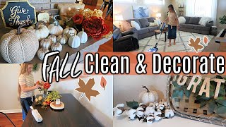 FALL CLEAN & DECORATE WITH ME 2019 | CLEANING MOTIVATION | Hannah's Happy Home