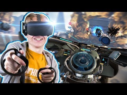 VIRTUAL REALITY HOVERBIKE SIMULATOR | Ground Runner: Trials VR (Oculus Touch Gameplay)
