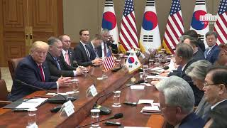 President Trump Participates in a Working Lunch with the President of the Republic of Korea