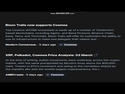 4-Latest   Cosmos   (ATOM)   News Today – Last Week Crypto -crypto news-   cryptocurrency news