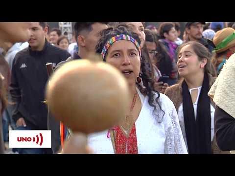 """Comunidades indígenas """"curan"""" el país con rituales durante el paro nacional"""