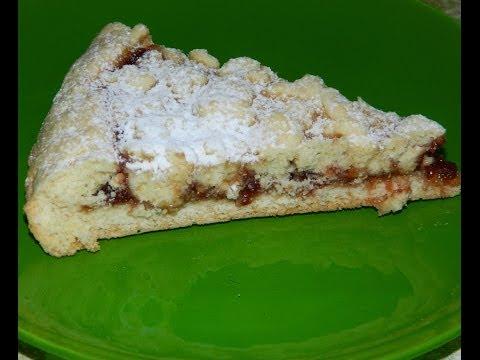 Пирог с малиновым вареньем(Очень ароматный)