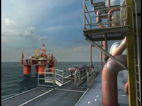 Offshore Oil Platform Operation Lifelike Simulator with 3DVIA Studio