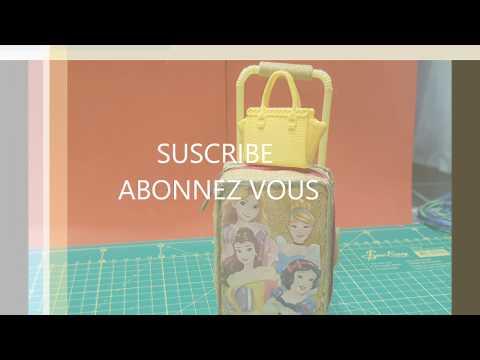 """DIY Miniature Mini Bagage à roulettes Barbie """"Suitcase for Doll"""