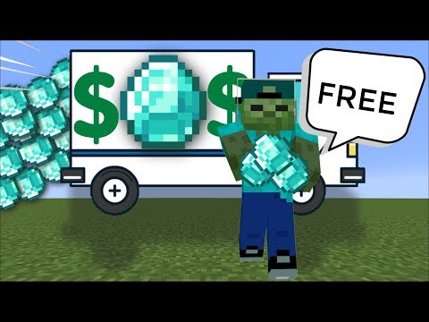 FRIENDLY ZOMBIE MARK FINDS *NEW* INFINITE DIAMOND GENERATOR In Minecraft !!