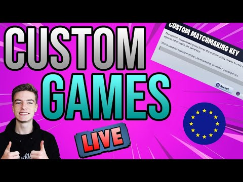 🔴CUSTOM MATCHMAKING EU! SOLO/DUO/SQUAD SCRIMS FORTNITE *LIVE PS4,XBOX,PC,MOBILE,SWITCH CUSTOM GAMES