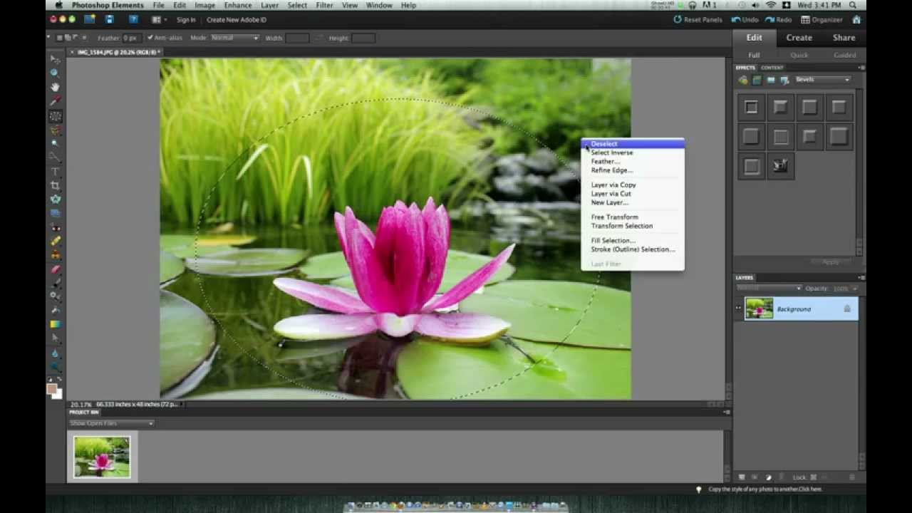 How to Create a Vignette in PhotoShop Elements