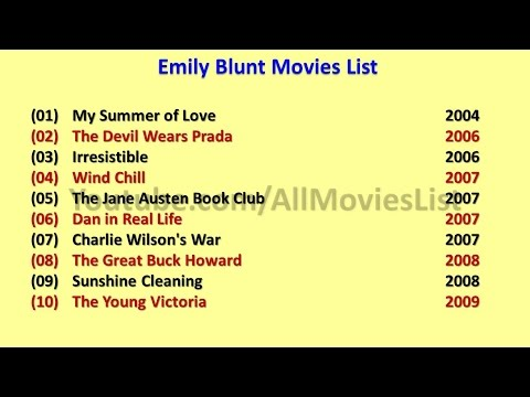 Emily Blunt Movies List - YouTube