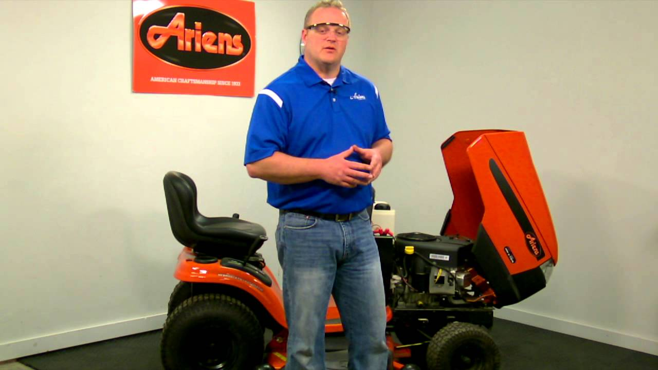 Lawn Tractor Maintenance Ariens 174 Youtube